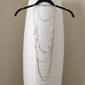 Super-long Shimmering Crystal Layered Necklace